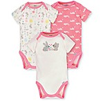 Gerber® Organic Size 3M 3-Pack Cotton Bunny Bodysuits
