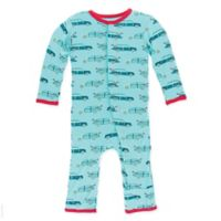 Kickee Pants® Size 6-9M Shining Sea Woody Coverall in Blue