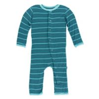 Kickee Pants® Newborn Shining Sea Stripe Coverall in Blue