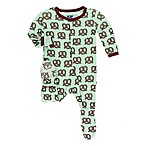 Kickee Pants® Size 3-6M Giant Pretzel Footie in Green