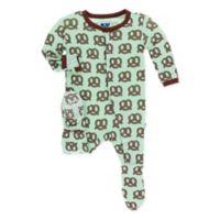 Kickee Pants® Newborn Giant Pretzel Footie in Green