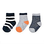 carter's® Size 0-3M 3-Pack Stripe Crew Socks