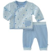 Absorba® Size 6-9M 2-Piece Fish Kimono Shirt and Pant Set in Blue