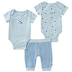 Absorba® Size 0-3M 3-Piece Fish Bodysuit and Pant Set in Blue