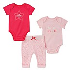 Absorba Size 3-6M 3-Piece Star Bodysuit and Pant Set in Pink