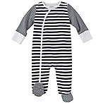 Absorba® Size 0-3M Striped Footie in Navy