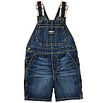 OshKosh B'gosh® Size 9-12M Holiday Dark Wash Denim Shortall in Blue
