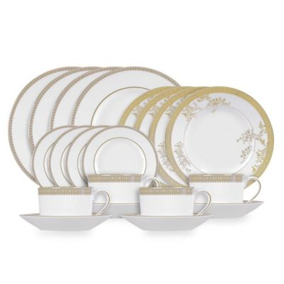 Buy Gold Dinnerware Sets from Bed Bath & Beyond