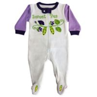 Sozo® Size 24M Sweet Pea Footed Romper in White/Purple