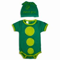 Sozo® Size 12M 2-Piece Sweet Pea Bodysuit and Cap Set in Green
