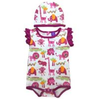 Sozo® Size 12M 2-Piece Jungle Bodysuit and Cap Set