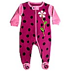 Sozo® Size 3-6M Ladybug Footed Romper in Pink