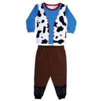 Sozo® Size 4T 2-Piece Cowboy Pajama in Blue/Brown