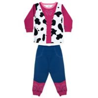 Sozo® Size 4T 2-Piece Cowgirl Long Sleeve PJ Set in Pink