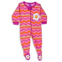 Sozo® Size 0-3M Chevron Footed Romper in Pink