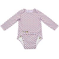 EZ-On BaBeez™ Size 9-12M Red Dot Long Sleeve Bodysuit in White