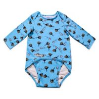 EZ-On BaBeez™ Size 9-12M Honeybee Long Sleeve Bodysuit in Aqua