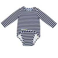 EZ-On BaBeez™ Size 12-18M Stripe Long Sleeve Bodysuit in Blue/White