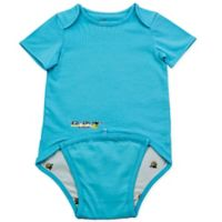 EZ-On BaBeez™ Size 12-18M Short Sleeve Bodysuit in Aqua
