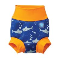 Splash About Size 12-24M Happy Nappy™ Shark Swim Diaper in Orange