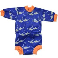 Splash About Size 6-14M Happy Nappy™ Shark Wetsuit in Orange