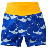 Splash About Size 3-4T Children's Shark Jammers in Orange