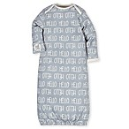 Gerber® Size 0-6M 3-Piece Hello Organic Cotton Gown, Cap, and Bootie Set in Grey/Ivory