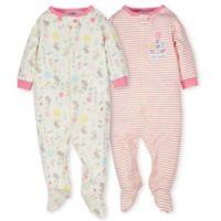 Gerber® Preemie 2-Pack Organic Cotton Floral Footies in Pink