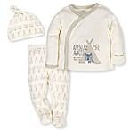 Gerber® Size 3M 3-Piece Teepee Fox Side-Snap Shirt, Pant, and Cap Take Me Home Set