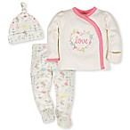 Gerber® Organic Size 0-3M 3-Piece  Love  Cotton Take Me Home Set