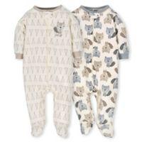 Gerber® Preemie 2-Pack Teepee Fox Sleep N' Play Footies in Grey/Ivory