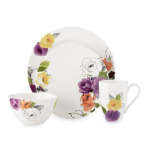 kate spade new york Charcoal Floral™ Dinnerware Collection  sc 1 st  Bed Bath u0026 Beyond & kate spade new york Charcoal Floral™ Dinnerware Collection - Bed ...