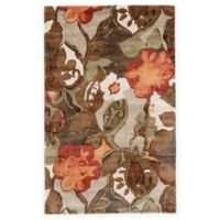 Jaipur Blue Collection Floral 9-Foot 6-Inch x 13-Foot 6-Inch Area Rug in Brown/Orange