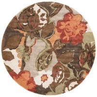 Jaipur Blue Collection Floral Rug in Brown/Orange