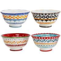Euro Ceramica Amalfi Mix & Match Soup Bowls (Set of 4)