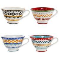 Euro Ceramica Amalfi Mix & Match Latte Mugs (Set of 4)
