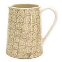 Euro Ceramica Chloe Accent Pitcher in Beige