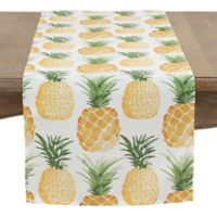 Saro Lifestyle 72-Inch Pineapple Table Runner