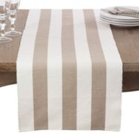 Saro Lifestyle 72-Inch Canelado Table Runner in Taupe