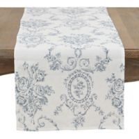 Saro Lifestyle 72-Inch Veronique Table Runner in Indigo