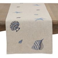 Saro Lifestyle 70-Inch Coquillage Table Runner in Natural