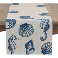 Saro Lifestyle 70-Inch Embroidered Marino Table Runner in Natural