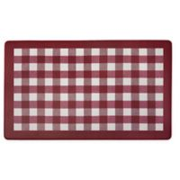 Achim Buff Check 18-Inch x 30-Inch Anti-Fatigue Kitchen Mat in Burgundy