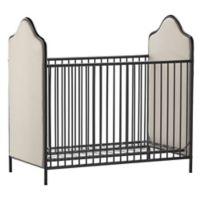 Little Seeds Piper Upholstered Metal Crib in Black