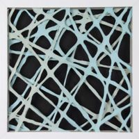 Marmont Hill Teal Strands Paper Art
