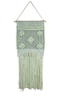 Marmont Hill Light Green Macrame 12-Inch x 24-Inch Wall Hanging