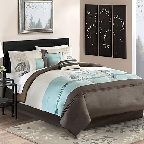 Willowbrook decorative bedding set bed bath beyond - Bed bath and beyond bedroom furniture ...