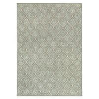 Surya Modern Classics 9' x 13' Damask Handcrafted Area Rug in Sage/Cream
