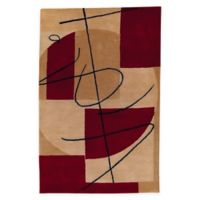Surya History 5' x 8' Handcrafted Area Rug in Brown/Red