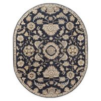 Surya Caesar 6' x 9' Handcrafted Oval Area Rug in Black/Beige